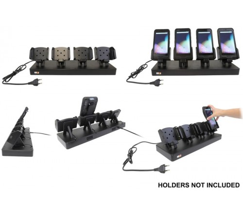 Brodit table stand - 4 slots for USB holders