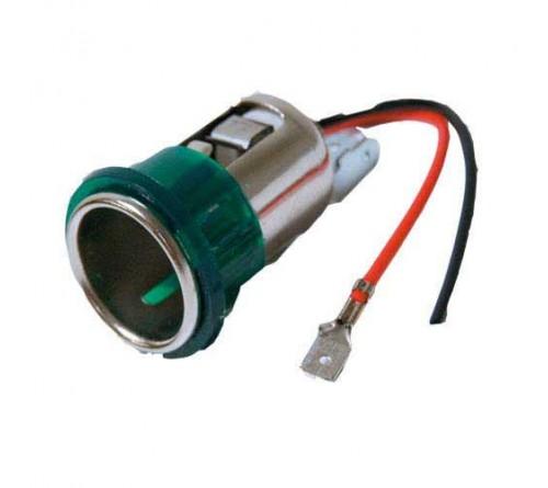 sigaretteplug inbouw met schroefgat + licht 12 V