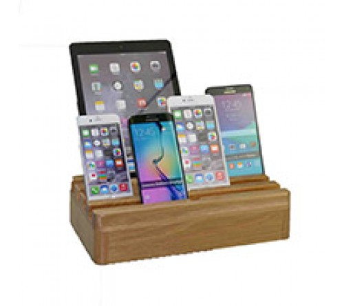 Kram Charge Pit Multi Charger - 6 USB port - hout