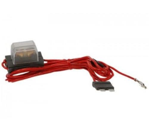 Geschakelde +12V van zekeringbox voor  ISO conn.