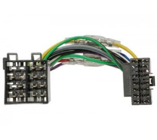 Kabelboom  OEM radio  OEM adapter JVC 16-pin > ISO 16-pin