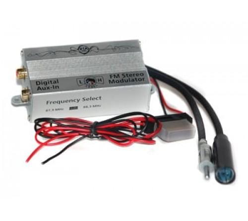 AUX IN - digitale FM modulator  2 frekw. jack & plug