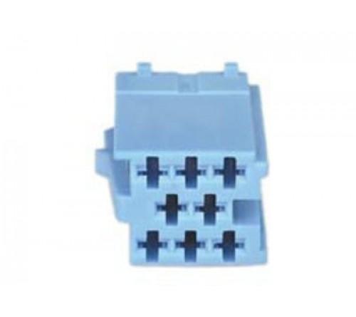 conn. mannelijk  8-pin blue MINI ISO  10 stuks