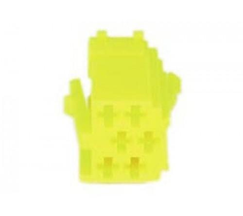 conn. mannelijk  6-pin yellow MINI ISO  10 stuks