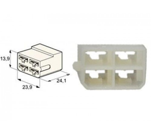 conn.   4-pin for 6 35 MM term.  25 stuks. 25x017.121-3