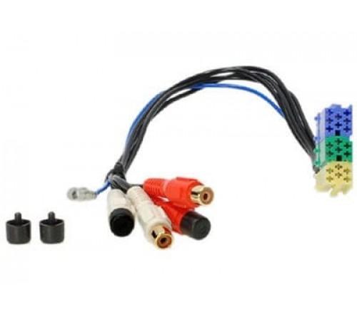 Audio adapterkabel 4x RCA F - 20pin mini iso geel/groen/blau