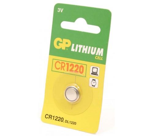 GP Lithium knoopcel CR1220  blister 1