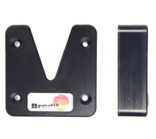 Brodit V-slot button and clip holder. With predrilled holes.