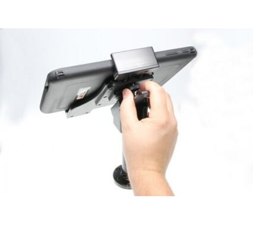 Brodit adjustable tablet holder 180-230mm. on pedestal mount