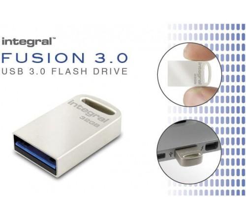 Integral 16GB USB 3.0 Flash Drive Metal Fusion