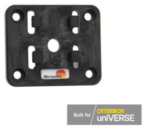 Brodit 4-prong male plate for Otterbox uniVERSE tablet cases