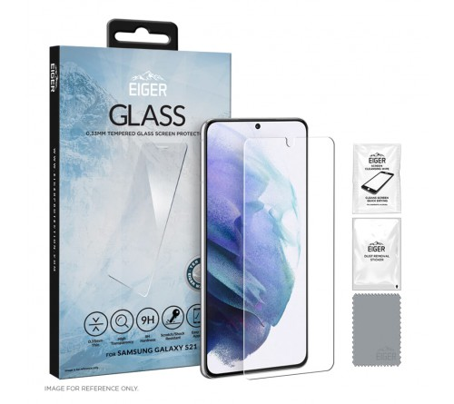 Eiger GLASS Screen Protector Samsung Galaxy S21- clear
