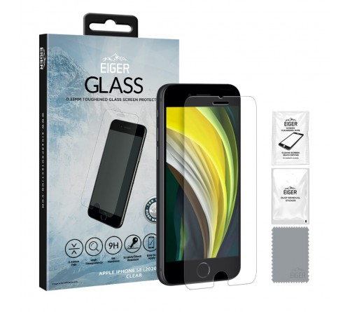 Eiger GLASS Screen Protector Apple iPhone SE 2020- clear