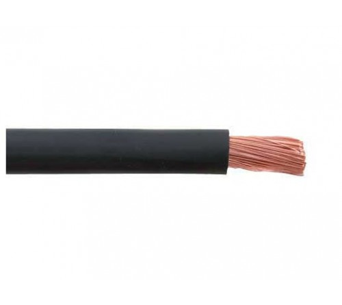Massa draad 3.5 mm² - zwart 50 meter