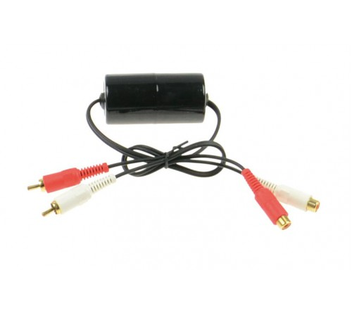 Aux adapter Ground loop isolator / Noise filter / RCA M+F 60