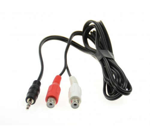 Aux adapter 2xRCA female > Male 3.5mm stereo Jack 1 5 meter