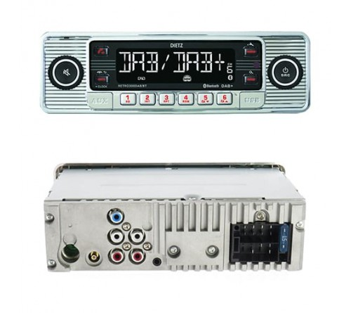 1-Din Retro 300 DAB+/BT MP3 USB  RDS Silver