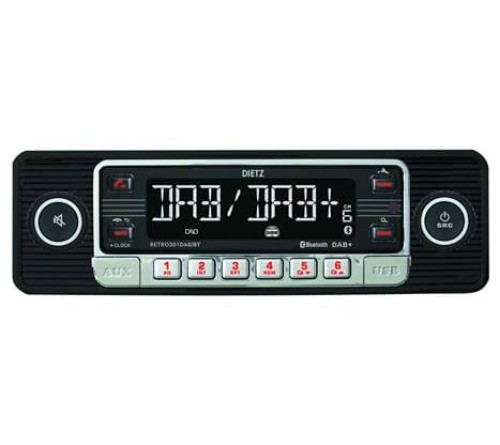 1-Din Retro 301 DAB+/BT MP3 USB  RDS Zwart