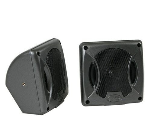 Rocx 2 weg opbouw set luidsprekers Zwart 100mm/25 mm tweeter
