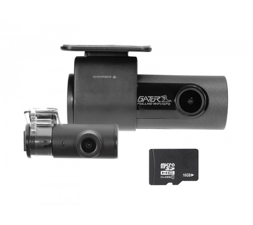 Gator dashcam set Front/Rear 1080p + 16GB micro SD