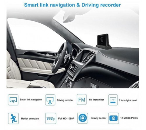 m-use on-board camera met dashboard scherm+ ext. video in