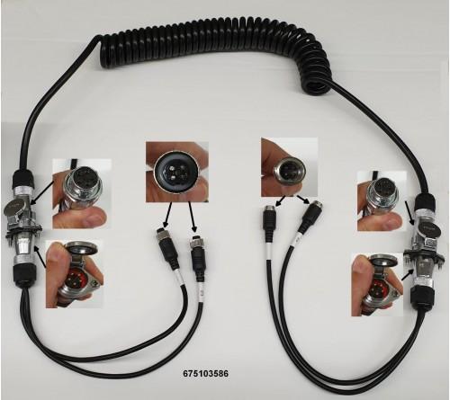 m-use 2 camera trailerset verlengkabel 4pin (m) - 4pin (f)