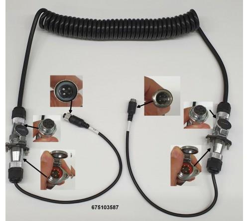 m-use 1 camera trailerset verlengkabel 4pin (m) - 4pin (f)