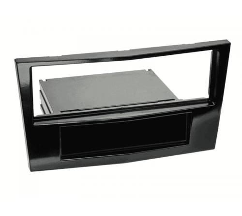1DIN frame  Opel Astra 04-10 Corsa Viv. Piano zwart met knik