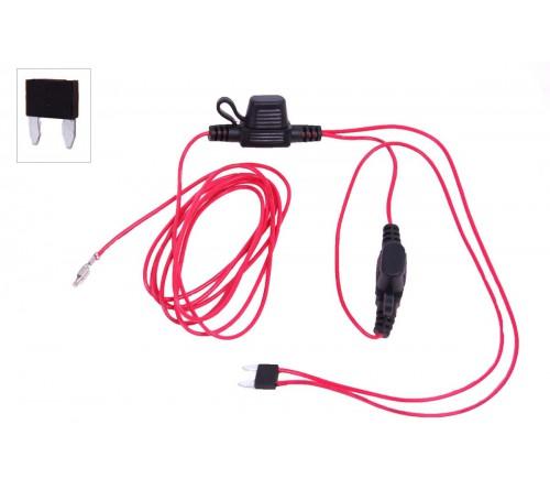 Geschakelde +12V van de zekeringbox voor ISO conn.
