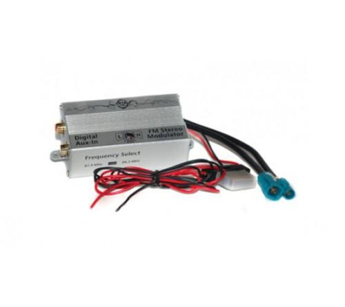 AUX IN - digitale FM modulator  2 frekw. Fakra Conn & plug