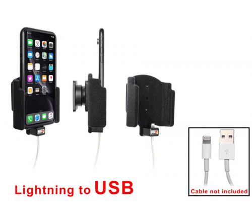 Brodit houder Apple iPhone XR/11 Padded lightning->USB