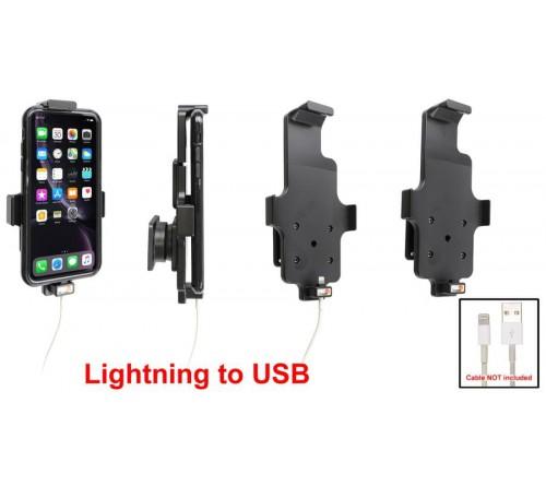 Brodit houder Apple iPhone XR/11 met skin (lightning->USB)