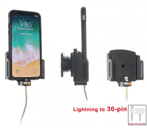 Brodit houd.verstelb.Apple iPhone X/XR/11 lightning->30 pin
