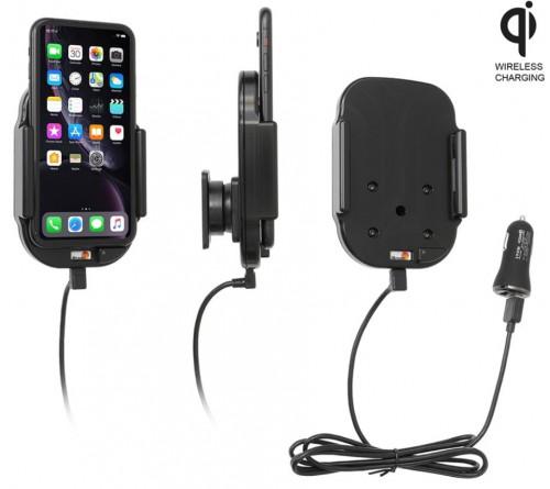 Brodit houder/lader Qi Apple iPhone XR/11 USB sig.plug
