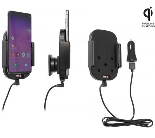 Brodit houder/lader Qi Samsung Galaxy S10 USB sig.plug