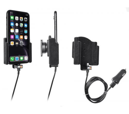 Brodit houder/lader Apple iPhone XR/11 USB sig.plug-padded
