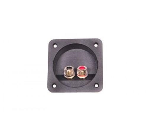 Aansluitpaneel voor woofer verguld tot 8mm² draad