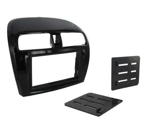 2-DIN Frame Mitsubishi Space Star '12> Piano Zwart/luchtroos