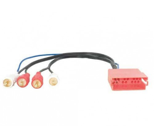 Actiefadap Audi bose sound system 20 pins mini ISO male->RCA