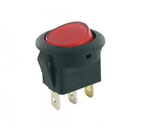 Wipschakelaar rood verlicht aan-uit 12V-10 ampére