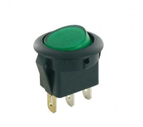 Wipschakelaar groen verlicht aan-uit 12V-10 ampére