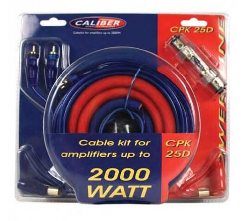 kabel kit voor versterkers tot 2000 watt