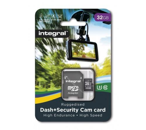 Integral Dash Cam MicroSDHC/XC 32GB Class 10 95MB/s-60MB/s