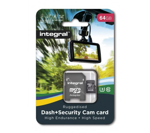 Integral Dash Cam MicroSDHC/XC 64GB Class 10 95MB/s-60MB/s